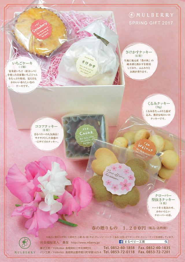春ギフト:焼き菓子 チラシ